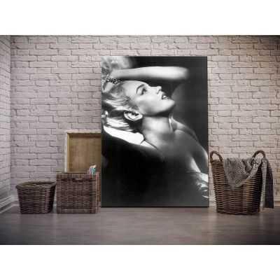 Quadro Marilyn Monroe bellissima in bianco e nero moderno stampa su tela mrv295