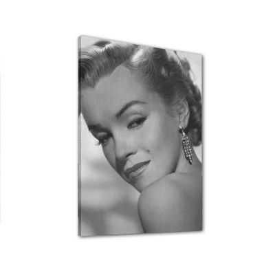 Quadro Marilyn Monroe sguardo sensuale in bianco e nero stampa su tela mrv298
