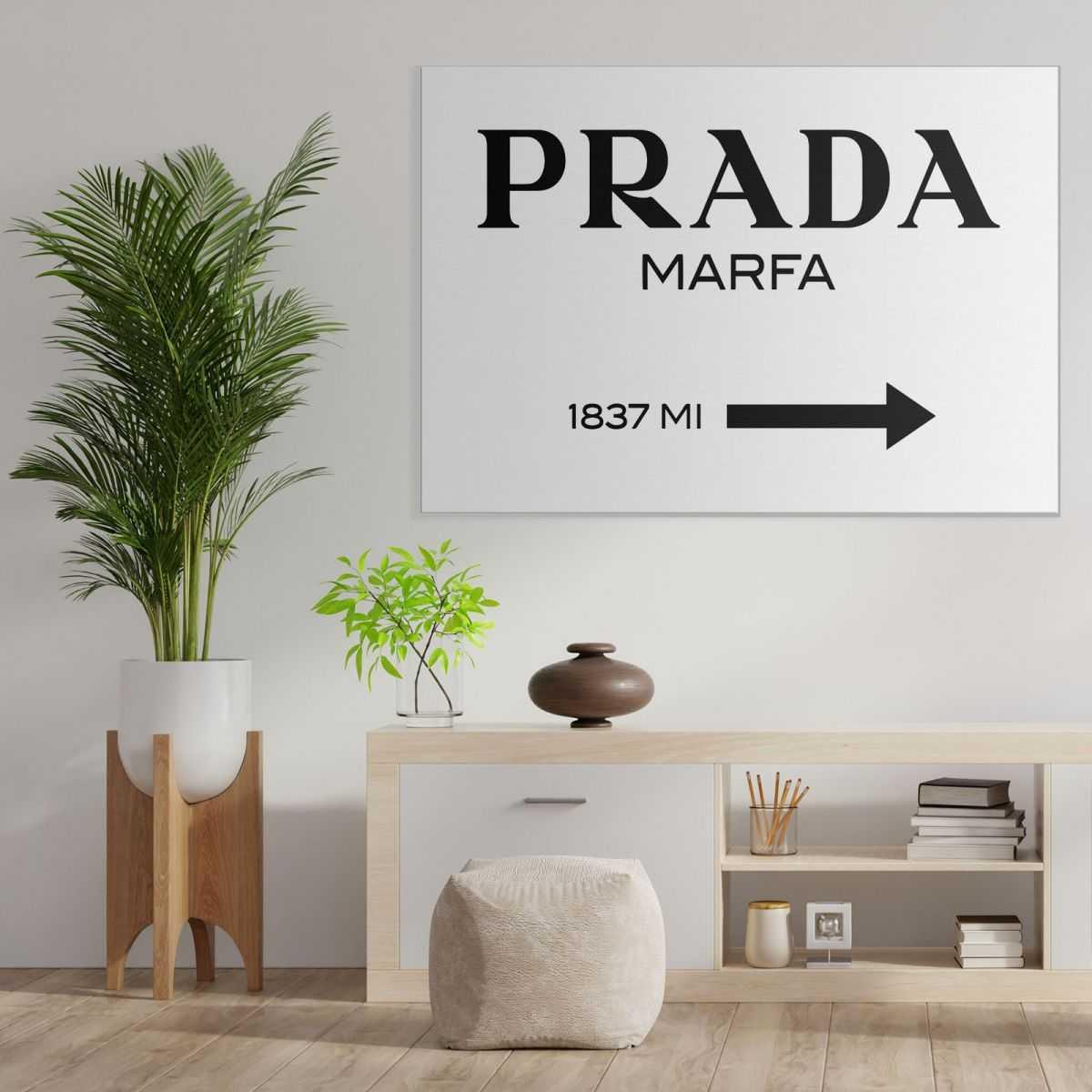 ❤️ Quadro Prada Marfa originale stampa su tela pro0