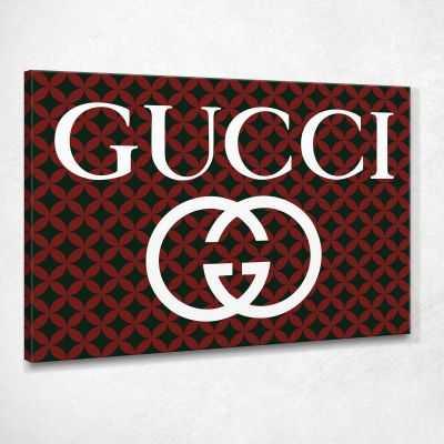 Quadro Gucci tappezzeria stampa su tela guo4