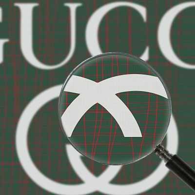 Quadro Gucci rete verde e rossa stampa su tela guo8