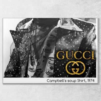 Quadro Gucci Campbell's soup Shirt stampa su tela guo11