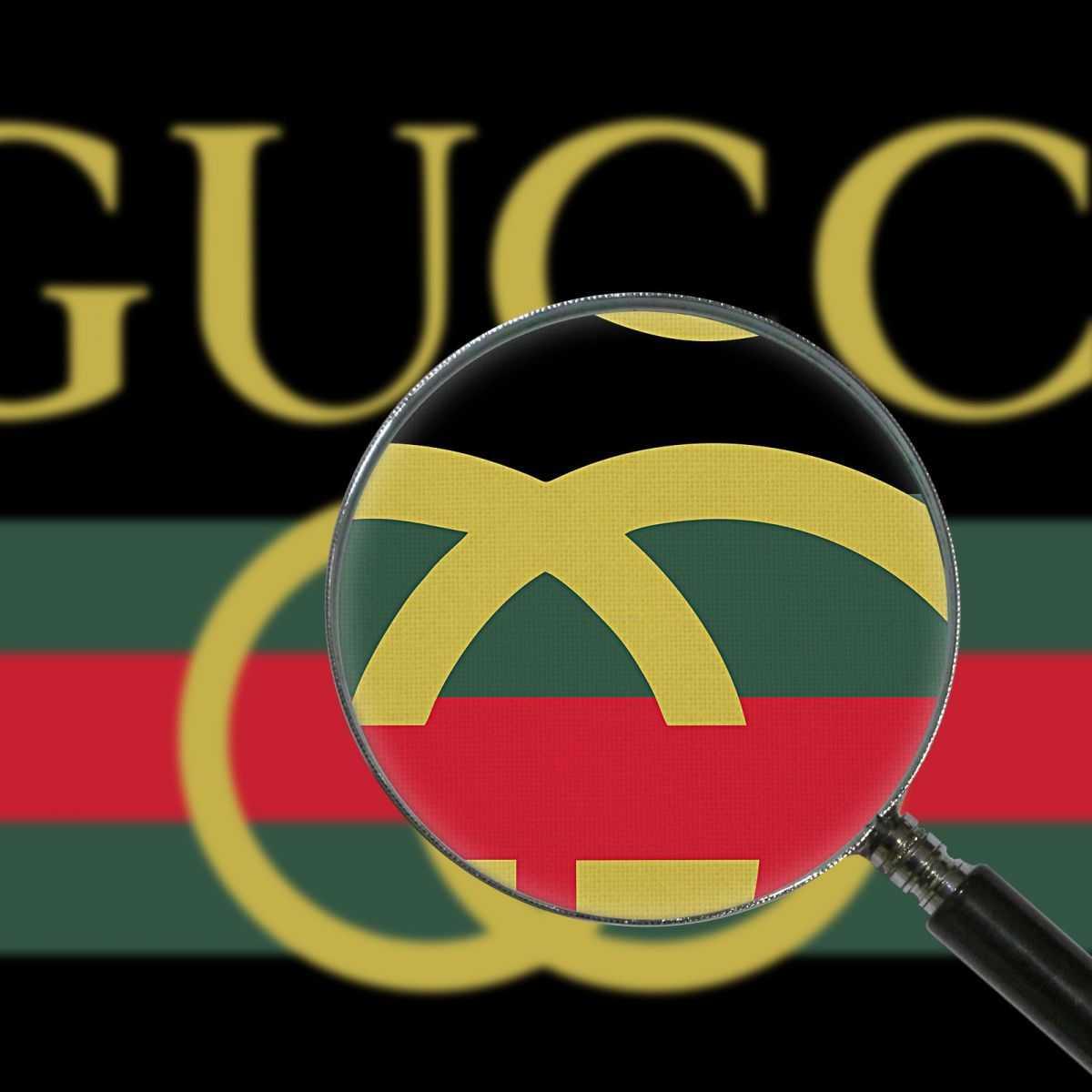 Quadro Gucci logo strisce verdi e rosse stampa su tela guo13