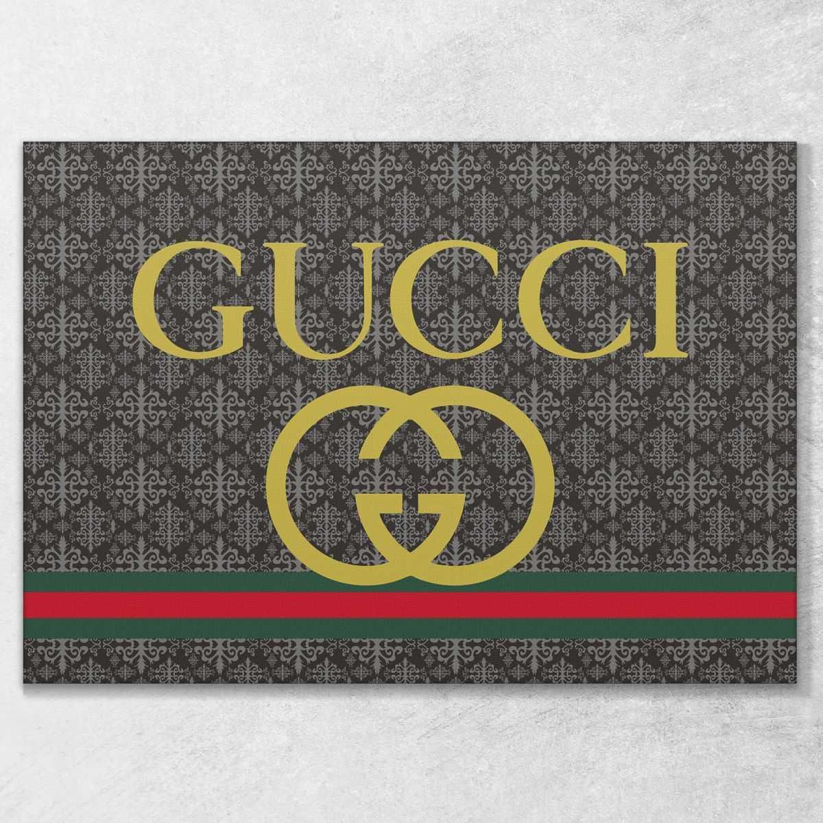 Quadro Gucci logo stampa su tela guo14