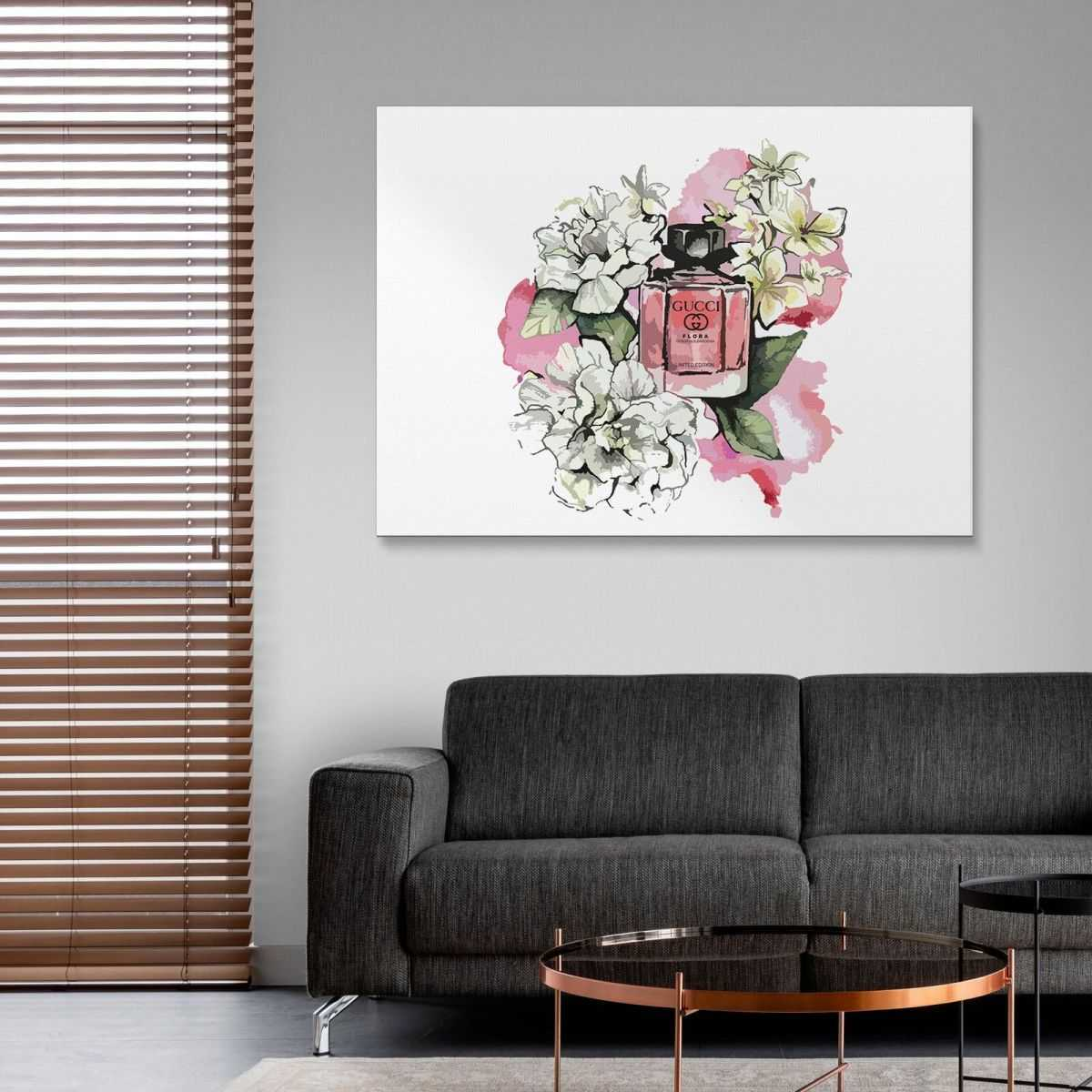 Quadro Gucci profumo flora stampa su tela guo15