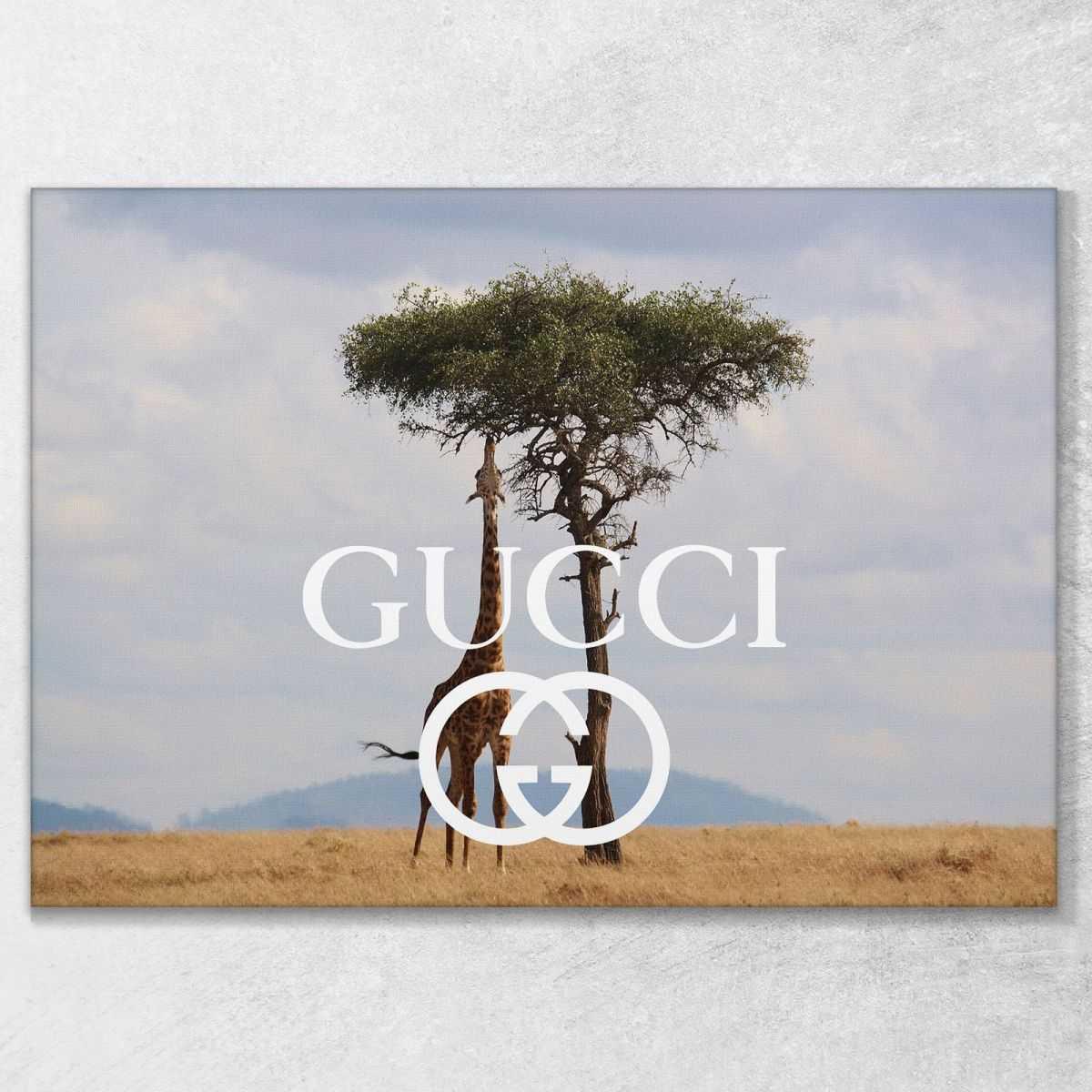 Quadro Gucci natura africa stampa su tela guo18