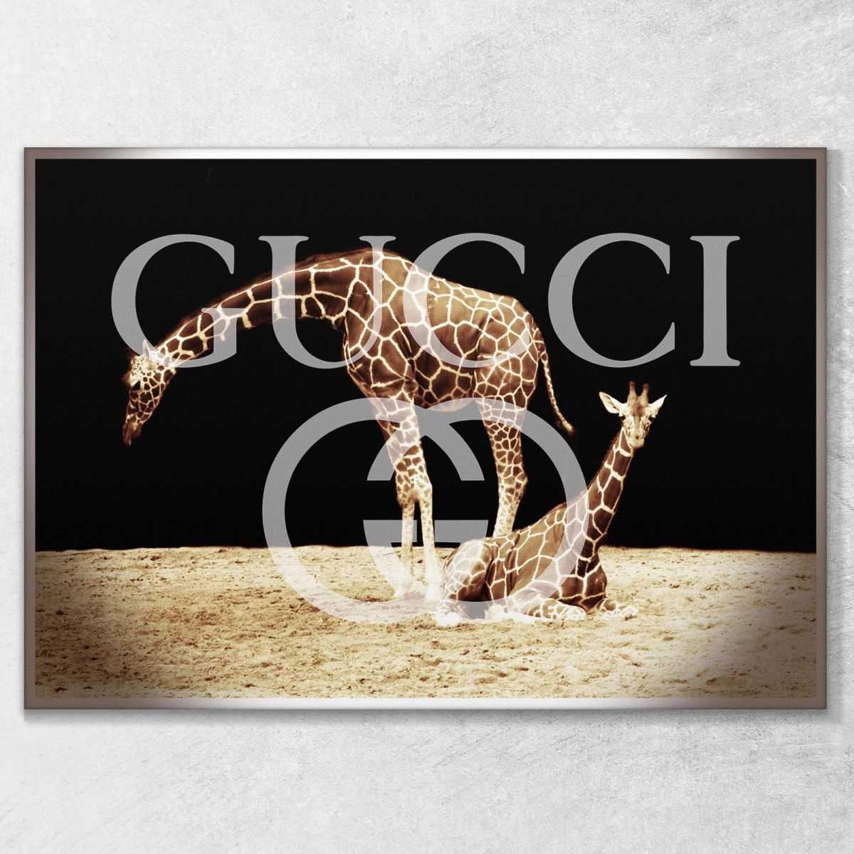 Quadro Gucci giraffe stampa su tela guo22