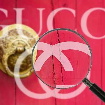 Quadro Gucci porta rossa stampa su tela guo23