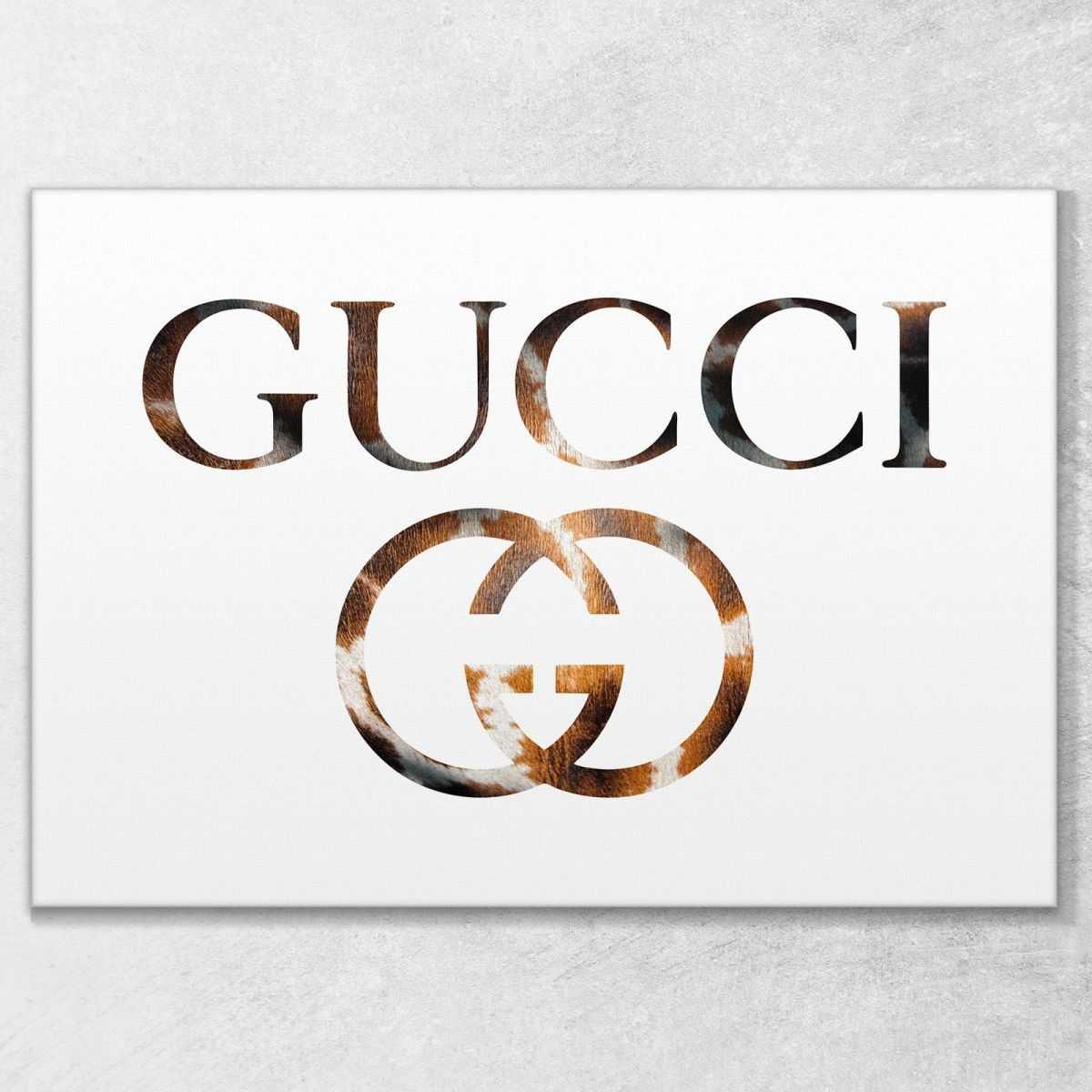 Quadro Gucci animalier bianco stampa su tela guo24