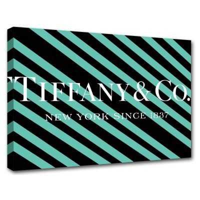 Quadro Tiffany & Co. righe scritta quadro moderno stampa su tela tfo5
