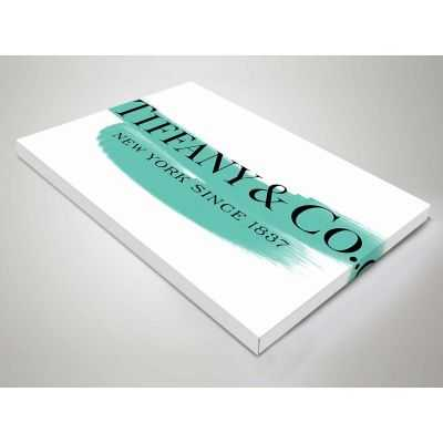 Quadro Tiffany & Co. pennellata scritta quadro moderno stampa su tela tfo7