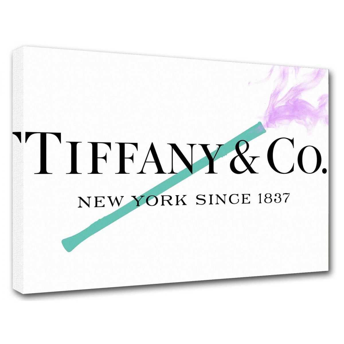 Quadro Tiffany & Co. sigaretta scritta quadro moderno stampa su tela tfo12