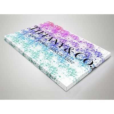 Quadro Tiffany & Co. multicolore scritta quadro moderno stampa su tela tfo14
