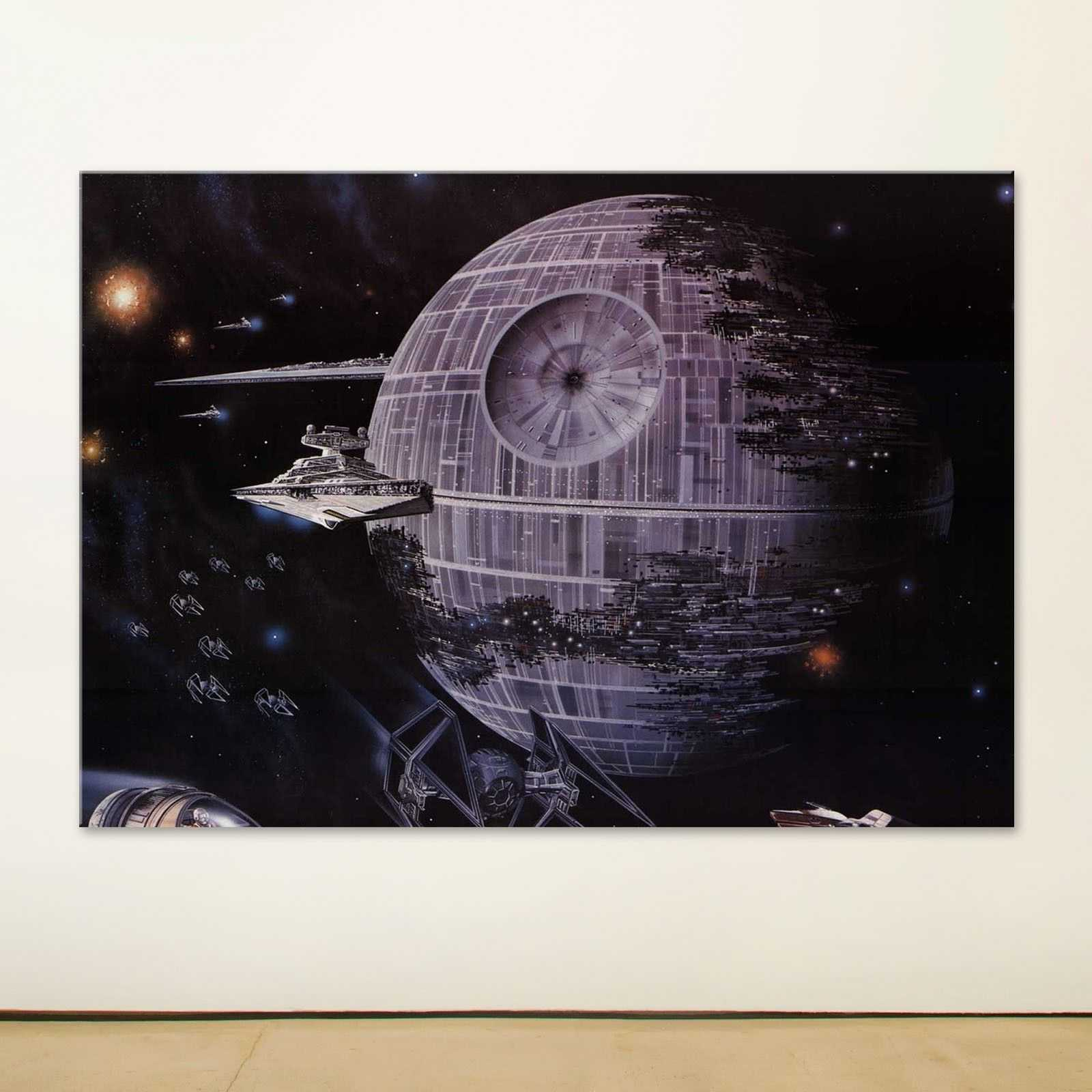 Quadro Star Wars Black la morte nera quadro decorativo stampa su tela sw013