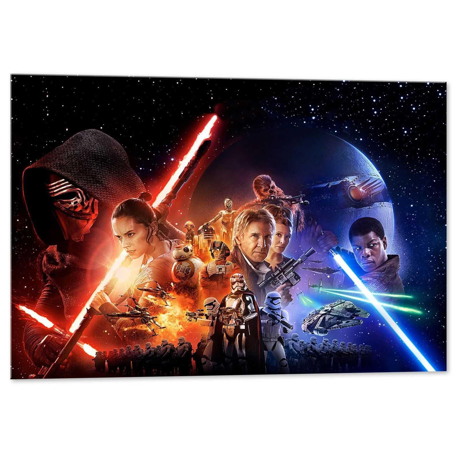 Quadro Star Wars Cast quadro decorativo stampa su tela sw014