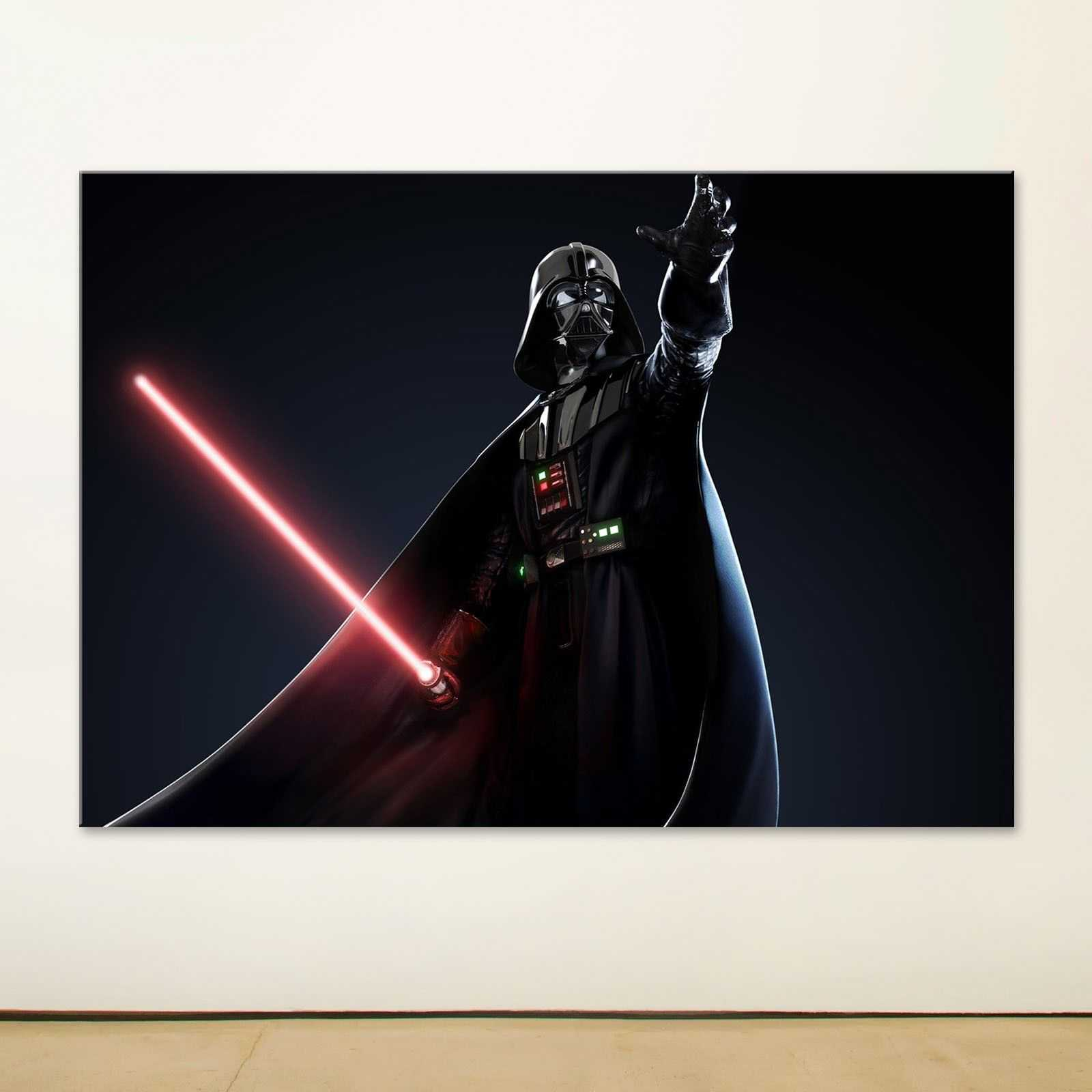 Quadro Star Wars Laser sword Vader quadro decorativo stampa su tela sw043