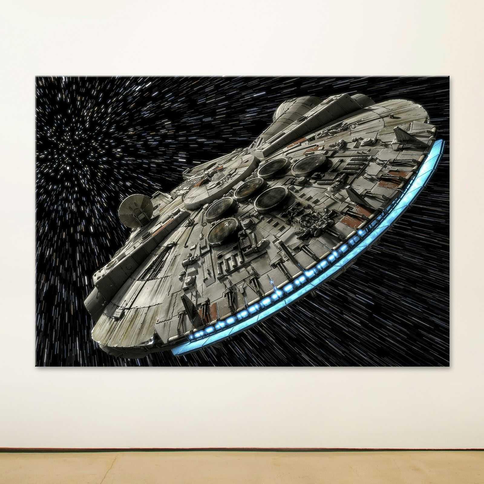 Quadro Star Wars Millenium Falcon stars quadro decorativo stampa su tela sw052