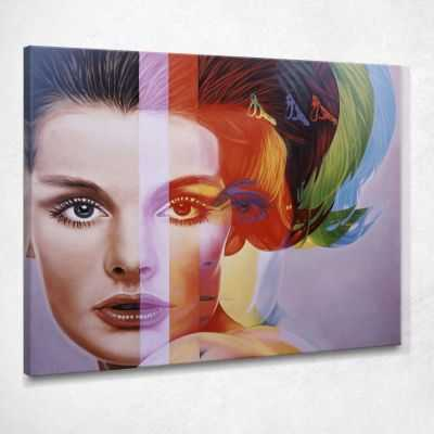 ❤️ Quadro astratto Spectrum riproduzione Richard Phillips stampa su tela asn32