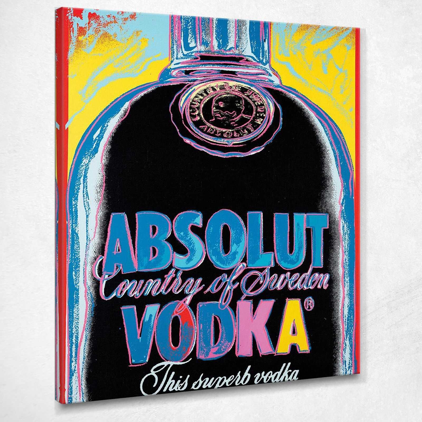 Absolut Vodka 2 1986 Andy Warhol quadro stampa su tela AW171