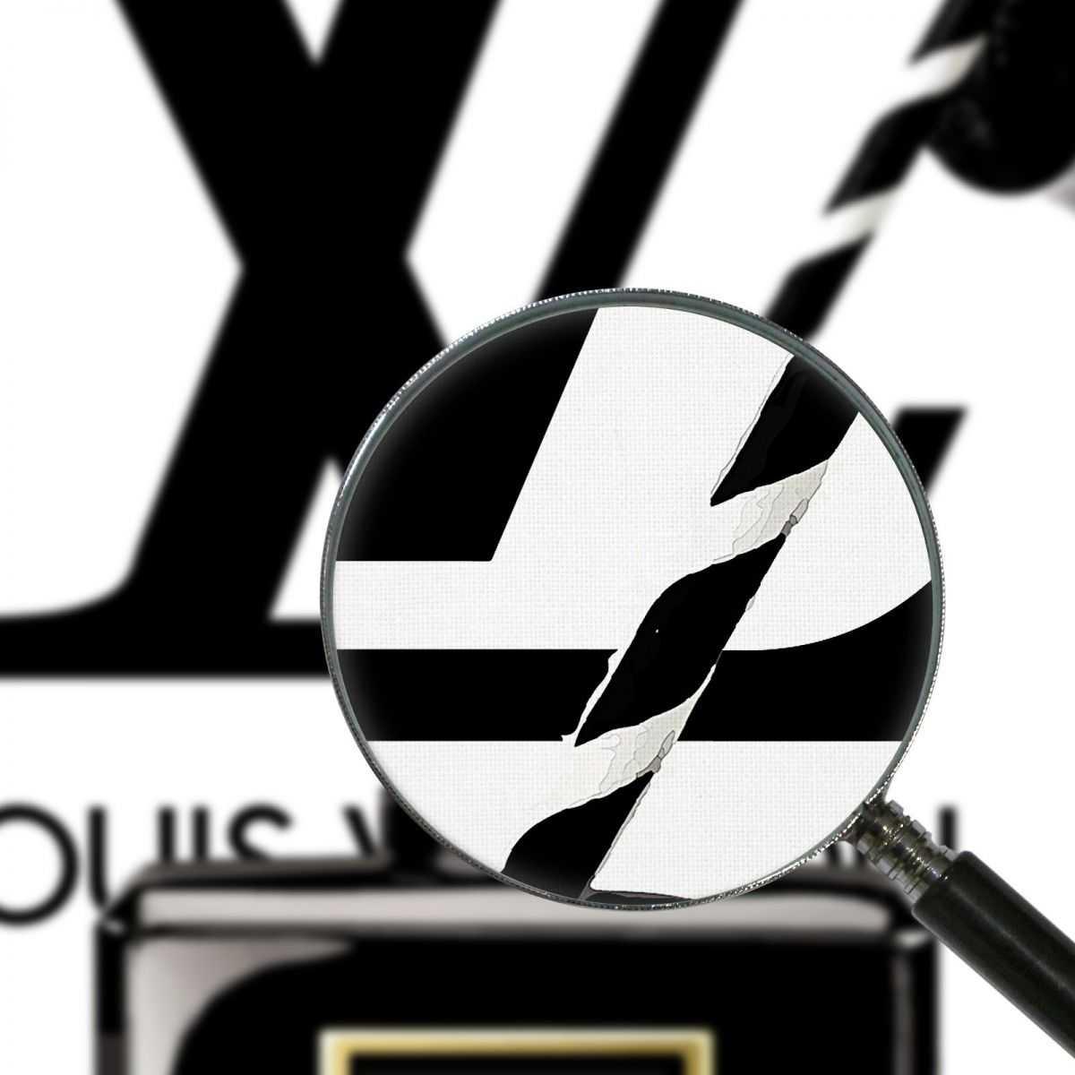 ❤ Quadro Louis Vuitton labbra nere cannuccia stampa su tela lv12