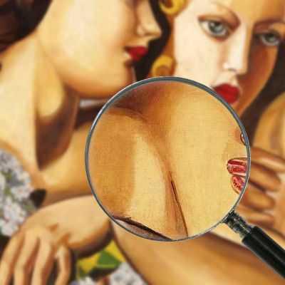 Primavera Tamara de Lempicka quadro stampa su tela 100x100 cm LMT35