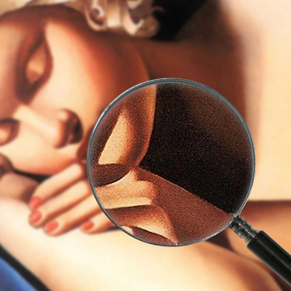 Ragazza addormentata Tamara de Lempicka quadro stampa su tela 100x80 cm LMT40
